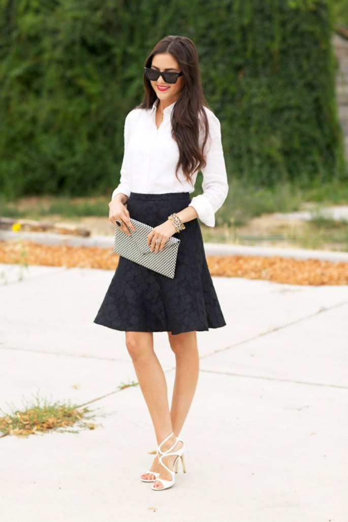 fashion-2015-11-white-shirt-outfit-ideas-date-flare-skirt-heels-pink-peonies-main