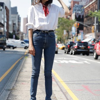 fashion-2015-11-white-shirt-outfit-ideas-weekend-bandana-heels-jeans-man-repeller-main