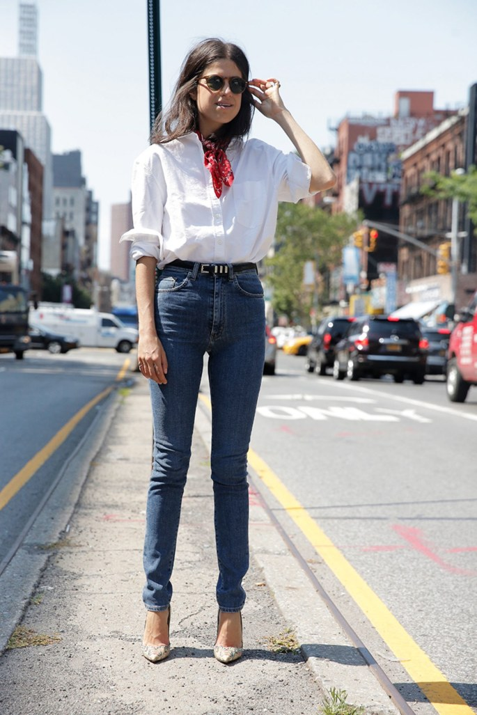 fashion-2015-11-white-shirt-outfit-ideas-weekend-bandana-heels-jeans-man-repeller-main